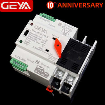 Free Shipping GEYA W2R Mini ATS 2P Automatic Transfer Switch Electrical Selector Switches Dual Power Switch ATS 63A 100A - DISCOUNT ITEM  49 OFF Home Improvement