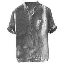 VICABO męskie koszule bawełna letnia moda Casual topy kieszeń mężczyzna krótki rękaw delikatne koszule dla mężczyzn odzież koszule męskie # W tanie tanio COTTON V-neck Swetry REGULAR mens shirts Suknem Na co dzień Stałe