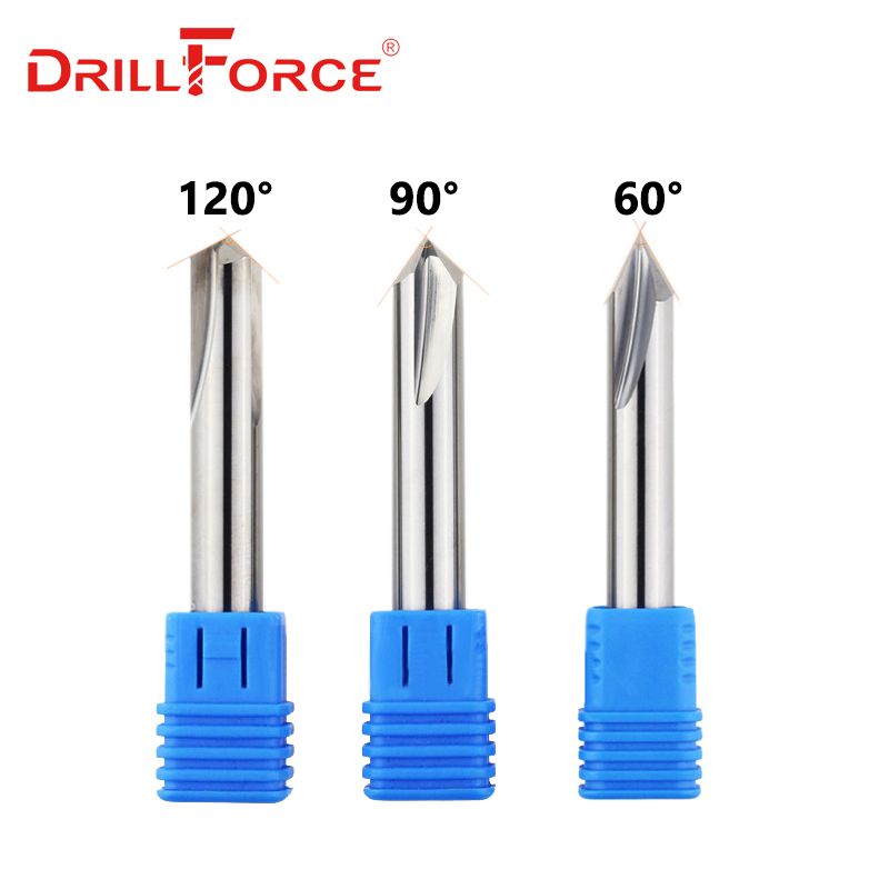 CNC Tungsten Solid Carbide Countersink Drill Bit Chamfer Milling Cutter For Aluminium Copper,60 90 120 Degree Deburring End Mill