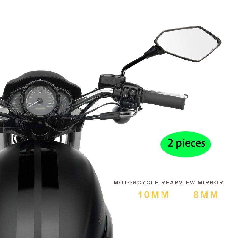 Espejo retrovisor universal para moto, accesorios para motocicleta, tornillos de espejos de 10mm y 8mm, pieza para motocross y todoterreno