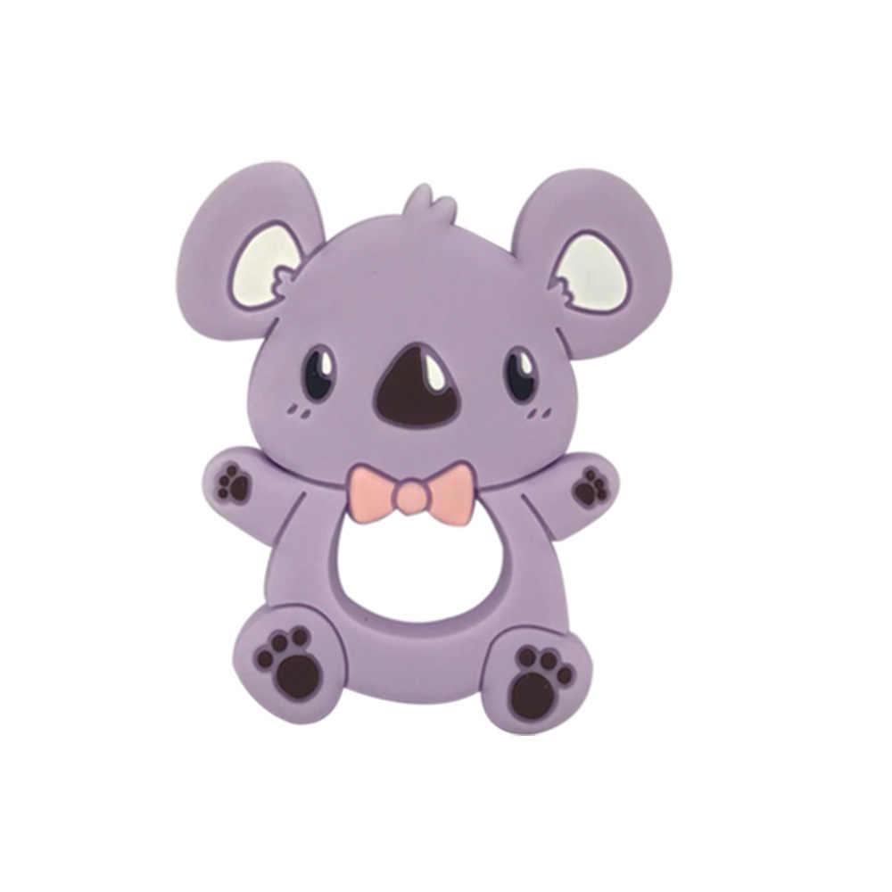 1Pc Baby Teetherสัตว์Koalaไดโนเสาร์Chichenเกรดอาหารซิลิโคนเด็กTeethingของเล่นDIYเด็กของขวัญ