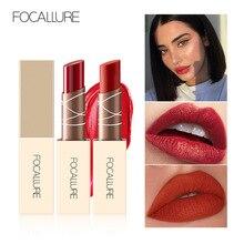 FOCALLURE New Moisturizing Matte Lipstick Waterproof Nude Velvet Women Red Lip
