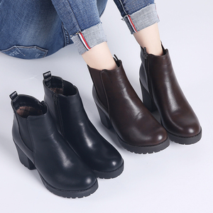 Image 5 - TKN Genuine boots women ankle boots winter snow boots genuine leather boots for women fashion zip chelsea boots new arrival 1902