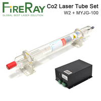 FireRay Reci W2 T2 90W 100W Co2 Laser Tube Dia. 80mm 65mm Power Supply 100W for Co2 Laser Engraving Cutting Machine
