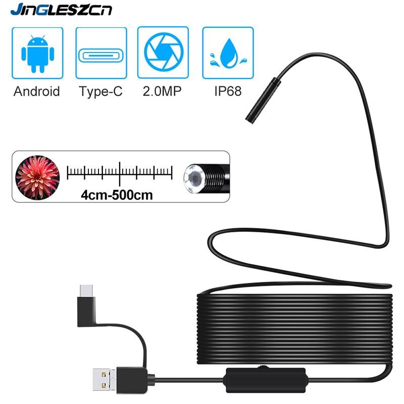 1920*1080 новейшая USB камера наблюдения змеи 2,0 МП IP67 водонепроницаемый USB Type-C эндоскоп с 8 светодиодами для Samsung Huawei Xiaomi PC