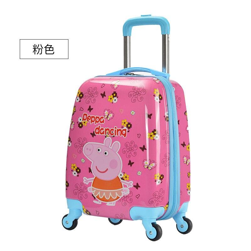 Luggage Bag Manufacturers Custom Pull Rod Box 16 Inches Cute Cartoon Children Pull Rod Box Luggage Custom Pattern Logo