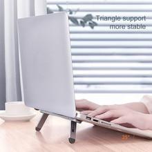 Suporte do portátil suporte notebook tablet acessórios macbook pro suporte mini portátil dobrável suporte de refrigeração