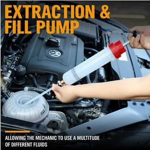 Image 2 - 200cc Oil Extractor Filling Syringe Manual Pump Fuel Pump Auto Accessories Oil filling Equipment herramientas Car Repair Tool
