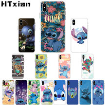 HTXian cute Stitch Ohana Coque Shell Phone Case for iPhone 11 pro XS MAX 8 7 6 6S Plus X 5 5S SE XR cover(China)