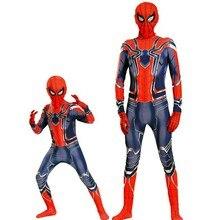 Superhéros araignée garçon déguisement Spiderman Cosplay body porter des vêtements avec masque