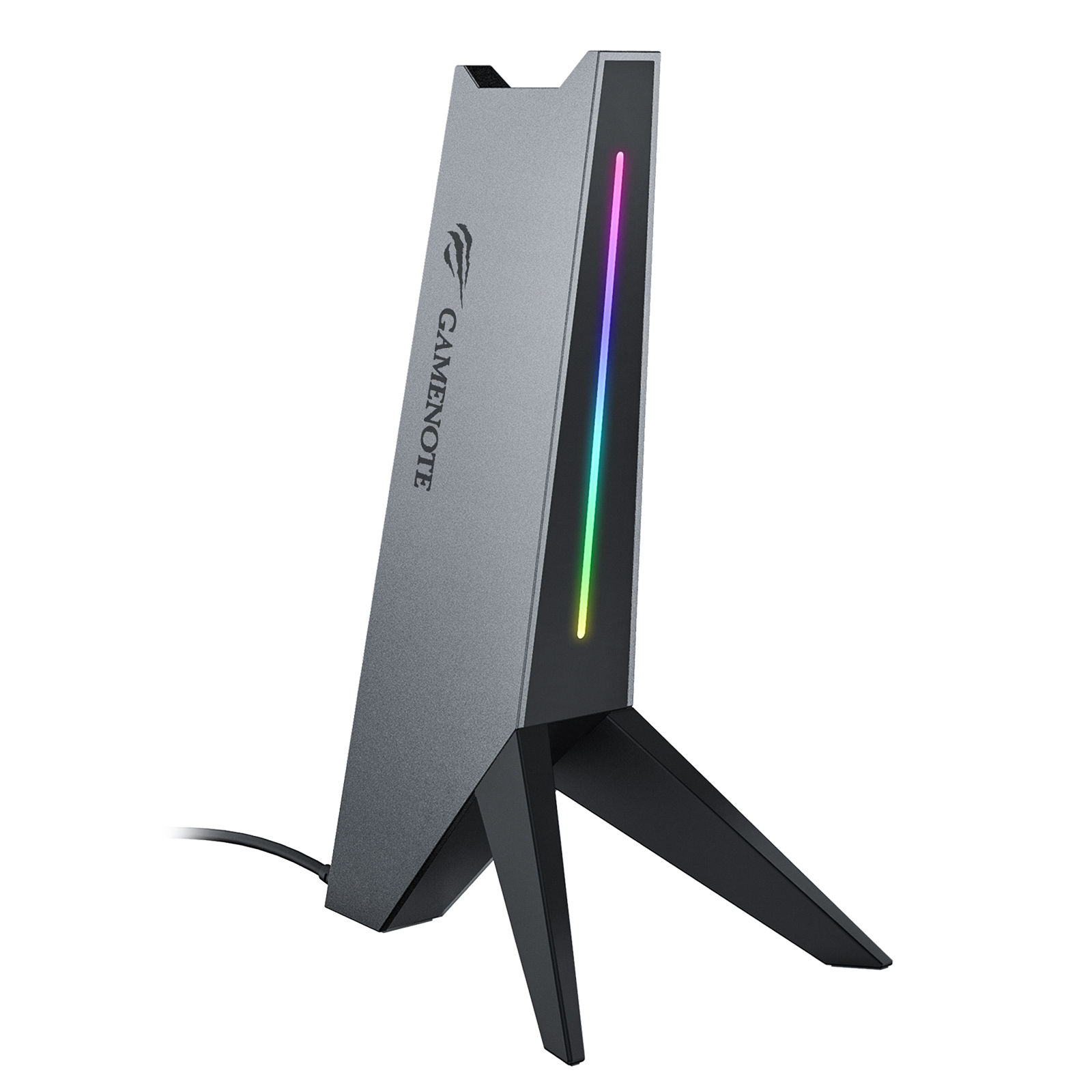 Havit RGB Headphone Stand with 3.5mm AUX and Dual USB Ports 7