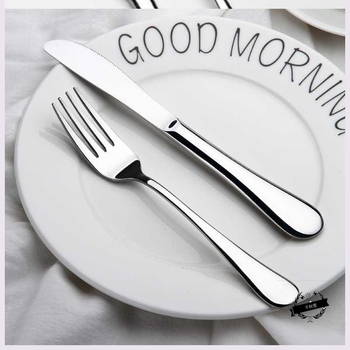 Silver Tableware Cutlery Set Stainless Steel Knife And Forks Travel Utensil Set Cubiertos De Acero Inoxidable Decor BD50CJ