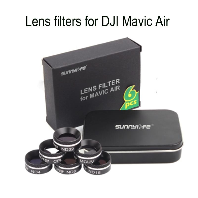 For DJI Mavic Air Drone 4K Camera Gimbal Lens Filter MCUV CPL ND Camera Lens Sunhood Protector For DJI Mavic Air Accessories