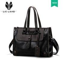LIELANG мужской портфель, мужская сумка из кожи, черная сумка, мужская сумка через плечо, сумка-мессенджер, повседневная дорожная сумка, сумка д...