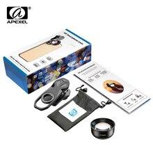APEXEL HD 2x teleobiektyw portret obiektyw profesjonalny telefon komórkowy aparat teleobiektyw dla iPhone Samsung Android Smartphone HB 2X