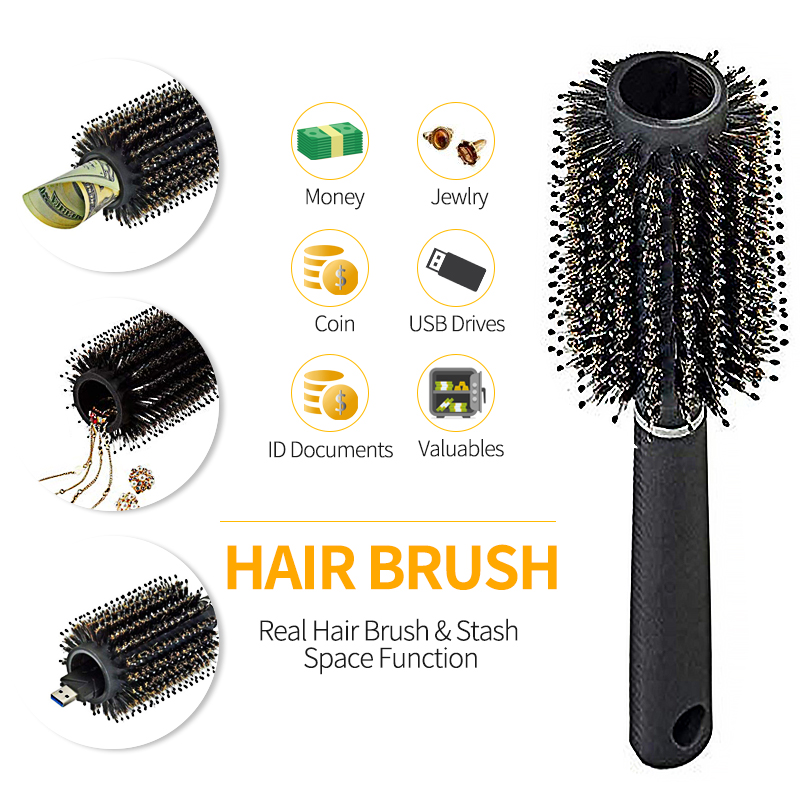 Safe Hair Brush Secret Stash Box Multi-functional Storage Comb Security Hidden Valuables Hollow Container Home Storage Dropship