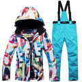 New Thick Warm Ski Suit Women Waterproof Windproof Skiing and Snowboarding Jacket Pants Set Female Snow Costumes Outdoor Wear|Skiing Jackets| |  -