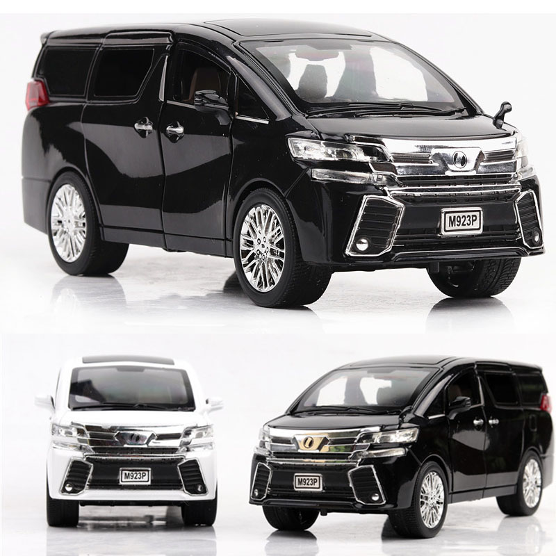 1:24 Free Shipping Toyota Alphard MPV Alloy Car Die Casting Car Toy Car Model Pull Back Car Kids Toy Collectibles