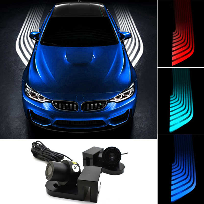Nuevo coche underglow led luz ambiental coche neon atmósfera luces de fondo para coches logo proyector advertencia parada de noche lámpara de funcionamiento