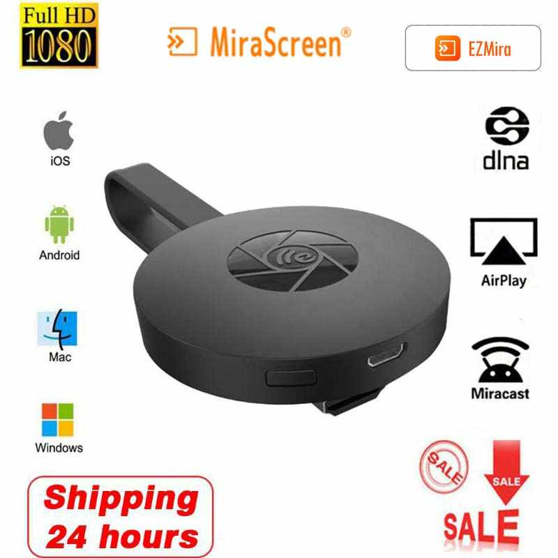 Mirascreen 2.4G 5G Nirkabel HDMI WIFI Receiver Android TV Stick Cermin Layar Miracast Airplay Media Streaming Dongle Ezmira cast