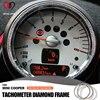Car styling diament obrotomierz metalu jakości naklejki do wnętrza samochodu dla MINI Cooper R50 R53 R55 R56 R60 R61 Countryman Clubman