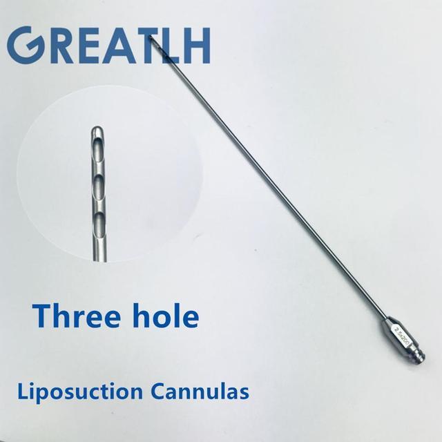 Three Hole fat harvesting cannula for stem cells,liposuction cannula fat transfer needle aspirator for beauty use