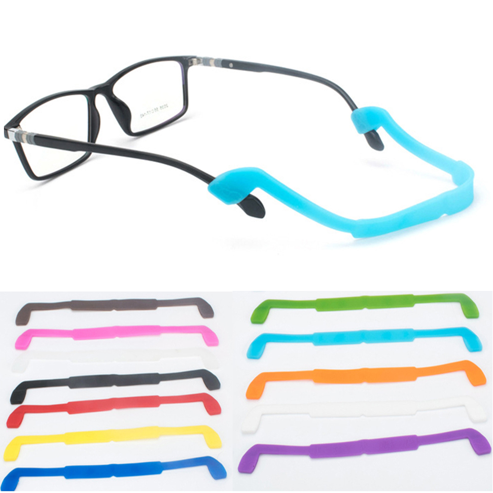 1PC Silicone Glasses Strap Children Safety Glasses Strap Band Fastener Sunglasses Headband Cord Holder Sports Glasses Rope