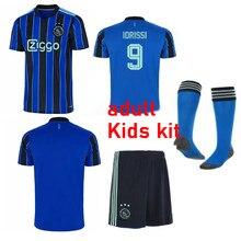 New ajaxES 2021 2022 blue kit jersey kids Away ANTONY BLIND HALLER Ajax TADIC PROMES NERES HUNTELAAR children Football Shirt