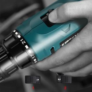 Image 2 - LOMVUM elektrikli matkap şarj edilebilir elektrikli tornavida çok fonksiyonlu elektrikli el aletleri Mini akülü matkap