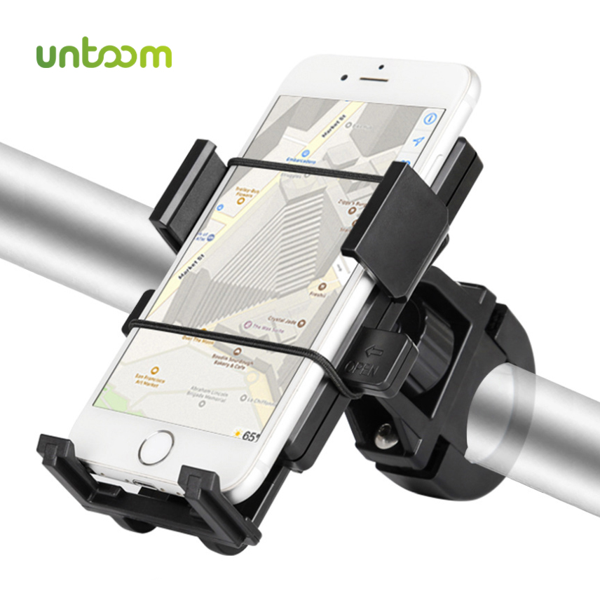 Untoom Bike Bicycle Phone Holder Handlebar Mount Motorcycle Cell Phone Mount For IPhone 11 Pro Max X Xr For Xiaomi Redmi Samsung