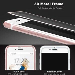 Image 4 - Suntaihoフルカバーiphone 7 7プラス3D湾曲縁合金金属フレーム強化ガラス7 8 6s 6プラス