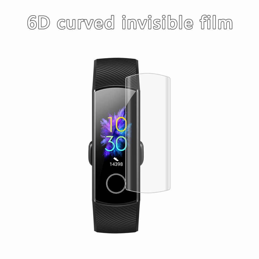 新クリアヒドロゲル保護フィルムスクリーンプロテクターフルカバー Huawei 社の名誉バンド 5 4 フルカバー超薄型耐久性のある
