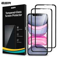 2 adet/grup ESR temperli cam iPhone 11 Pro Max ekran koruyucu Clear Premium koruyucu cam iPhone X XR XS Max cam