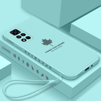 Funda de silicona líquida para Huawei Honor 50, 30, 20 Pro, funda protectora trasera de piel de hoja de arce para Honor V20, V30 Pro, V40, 30S