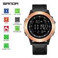 Sanda новые электронные часы мужские Студенческие многофункциональные водонепроницаемые счетчик шагов спортивные умные часы для мужчин Reloj ...