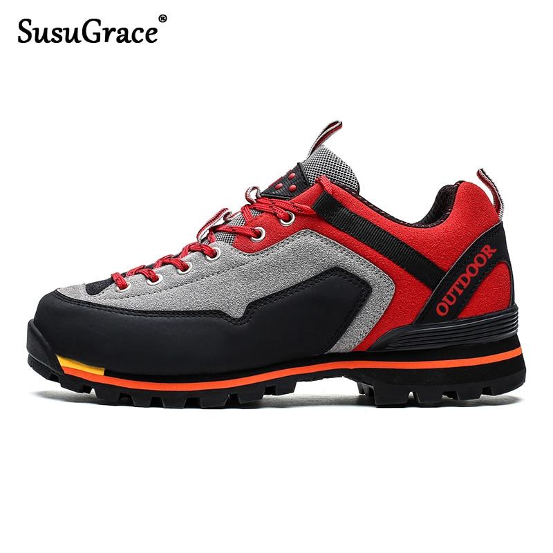 SusuGrace Men hiking boots Quality