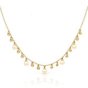 Image 2 - 100% reine 925 Silber Halsketten Anhänger für Frauen Runde Süßwasser Perlen Halskette Feine Büro Schmuck Einfache Design Bijoux