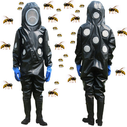 Beekeepers Full Body Suit Beekeeping Clothing Professional wasp hornet Protection Beekeeping  Safty Veil Hat All Body protective