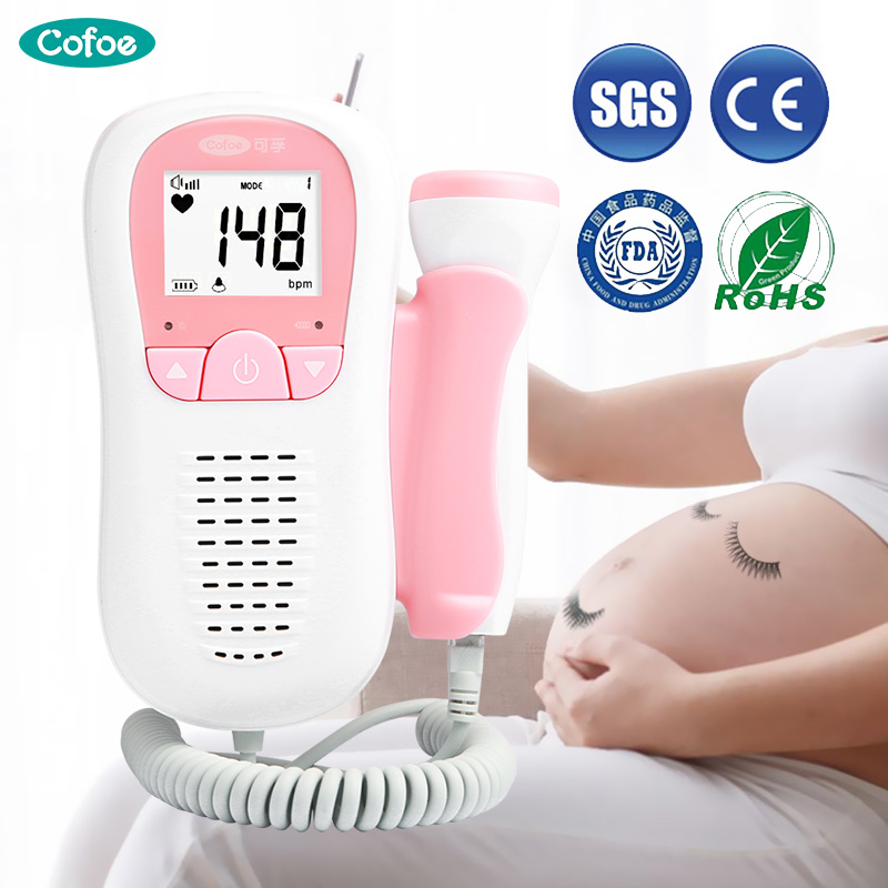 Cofoe Doppler Fetal Heartbeat Detector Baby Care Household Portable for Pregnant Fetal Pulse Meter No Radiation Stethoscope(China)
