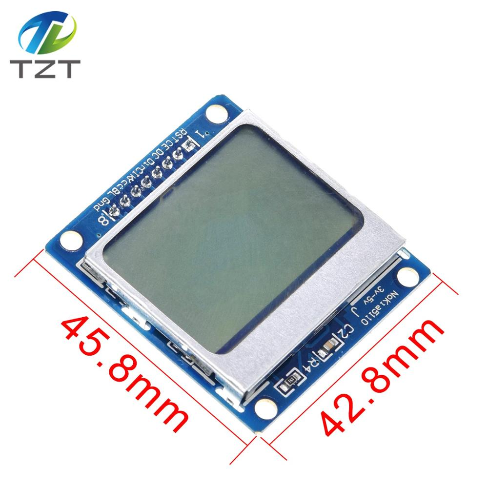 2PCS 84x48 LCD Module Blue Backlight Adapter PCB for Nokia 5110 Arduino