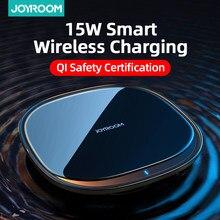 Joyroom 15W Qi kablosuz şarj cihazı iPhone Airpods için Pro hızlı kablosuz hızlı şarj Pad telefon şarj için Samsung s20