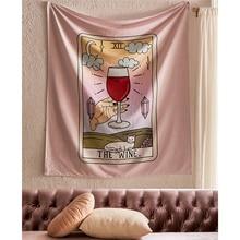 Tapiz para colgar en la pared Palmistry café Tarot Tapiz Alfombra de pared Rosa Boho decoración Ouija brujería paño de pared tapices alfombra