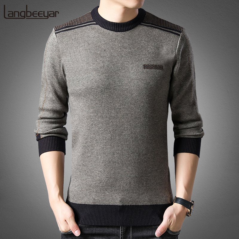 2019 New Fashion Brand Sweater Man Pullovers Thick Slim Fit Jumpers Knitwear Warm Winter Korean Style Casual Clothing Men