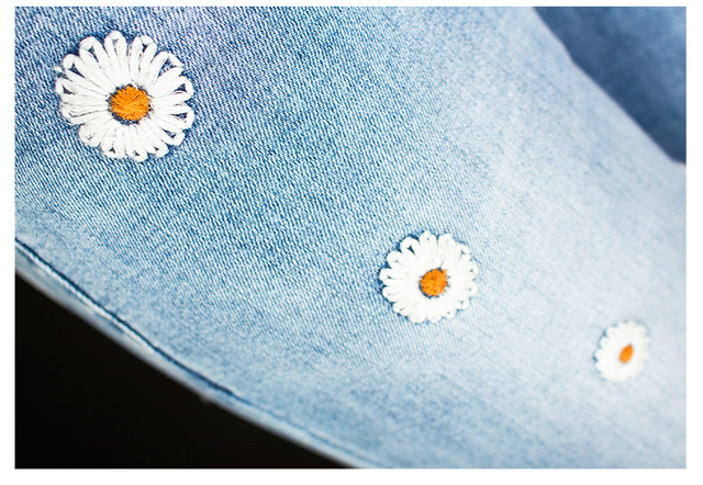 Flare Jeans with flower pattern