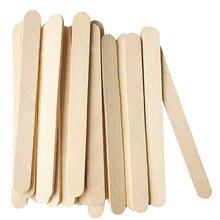100Pcs/Set Popsicle Sticks Natural Wooden Pop Popsicle Sticks  Length Wood Craft Ice Cream Sticks