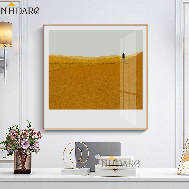 NHDARC Canvas Printings Postes And Paitnings ARC00832 Ins Yellow Desert Landscape Wall Pictures For Living Room Home Decor