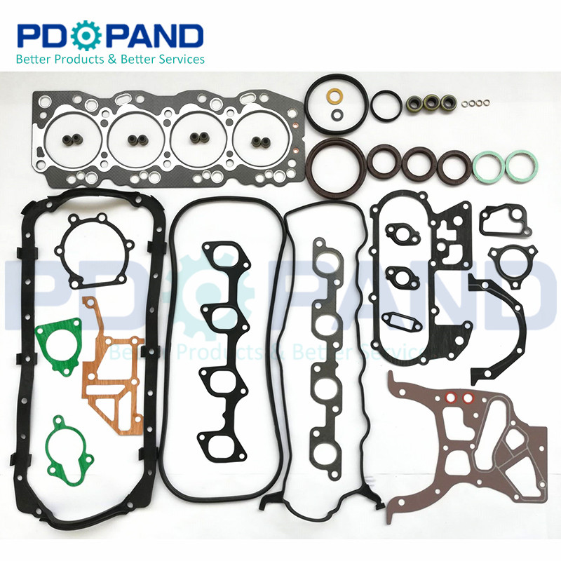 2L 2L-T Engine Overhaul Rebuilding Gasket Kit 04111-54050 for TOYOTA CRESSIDA Saloon/Land Cruiser/Hiace/Hilux 2446cc  2.4D/TD