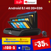 Junsun E95P Auto 4G Android 8.1 ADAS  2+32GB Car DVR Dash Cam FHD 1080P Dual Lens recording Car DVRs recorder rearview mirror