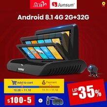 Junsun E95P Auto 4G Android 8.1 Adas 2 + 32Gb Auto Dvr Dash Cam Fhd 1080P Dual lens Opname Auto Dvr Recorder Achteruitkijkspiegel