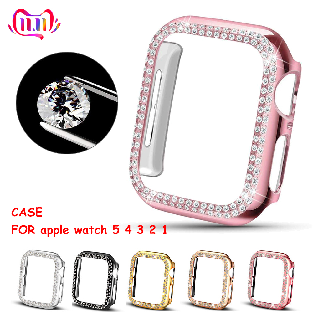 Bumper For Apple watch Case cover Apple watch 5 4 44mm 40mm 42mm 38mm Double Diamond Protector case iWatch 3 2 1 Accessories 44 image
